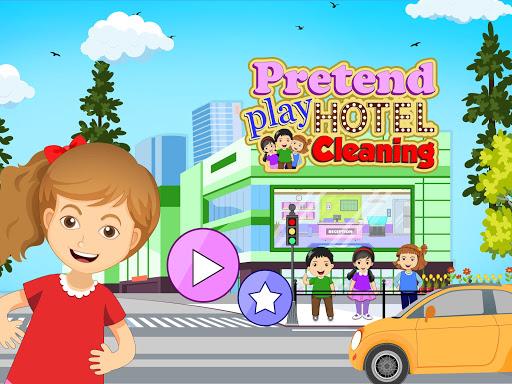 Pretend Play Hotel Cleaning: Doll House Fun  screenshots 1