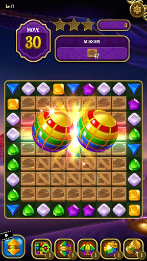 Magic Lamp - Genie & Jewels Match 3 Adventure apkpoly screenshots 2
