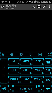 Keyboard Theme Neon 2 Cyan