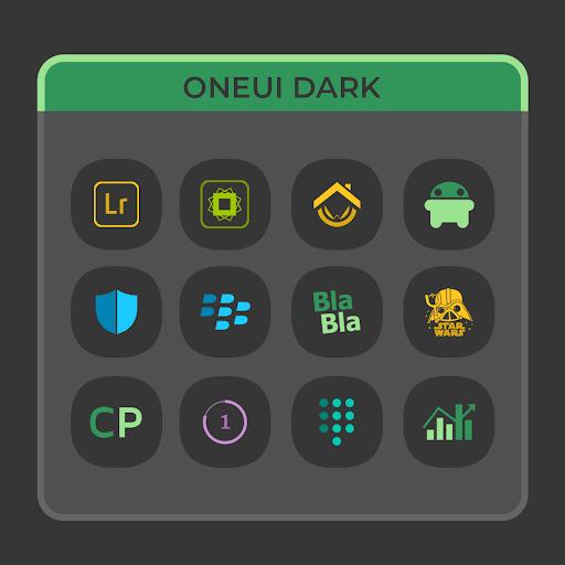 OneUI Dark- Icon Pack : S10 screen 1