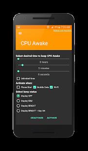Wake Lock - CPU Awake