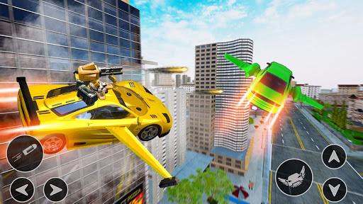 Flying Car Shooting Game: Modern Car Games 2021  Screenshots 17