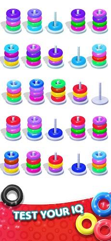 Color Hoop Stack Puzzle-Sorting Gamesのおすすめ画像4