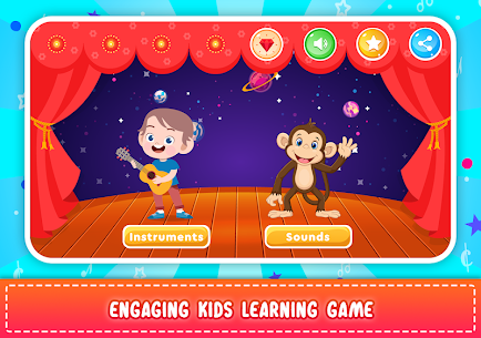 Kids Piano: Animal Sounds & musical Instruments 1