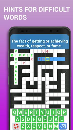 Crossword Puzzle Free Classic Word Game Offline 3.8 screenshots 3