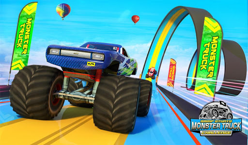 Monster Truck Mega Ramp Stunts Extreme Stunt Games screenshots 11