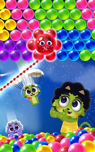 Space Cats Pop - Kitty Bubble Pop Games apkmr screenshots 19