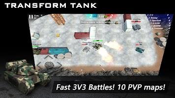 Transform Tank 2 - 3V3 Online battle tank game