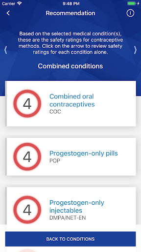 who contraception tool screenshot 2