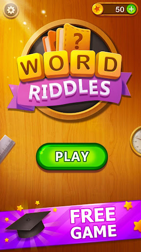 Word Riddles - Free Offline Word Games Brain Test 2.3 screenshots 1