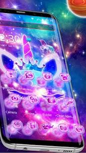 Shiny Galaxy Cute Unicorn Theme 1.1.4 APK + MOD Download 2