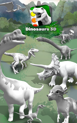 Dinosaurs 3D Coloring Book modavailable screenshots 17