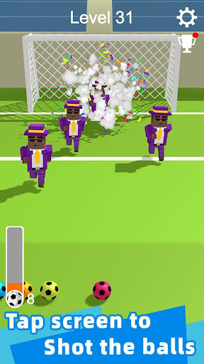 Straight Strike - 3D soccer shot game screenshots 1