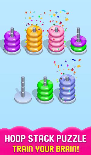 Stack Sort Puzzle - Color Sort - Hoop Sort Stack Apkfinish screenshots 2