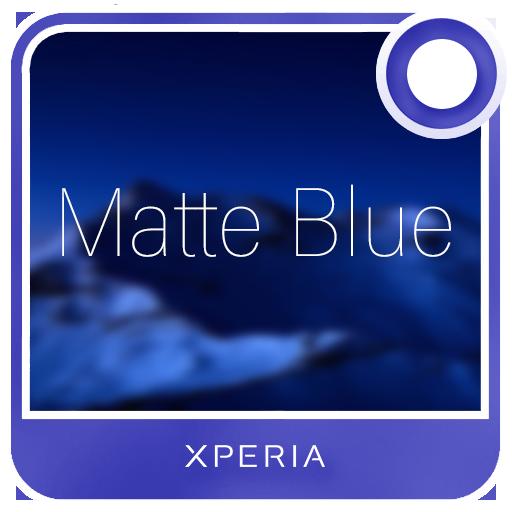 Xperia™ Theme - Matte Blue