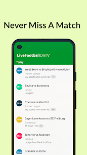 Live Football On TV Guide Apk 2021 3