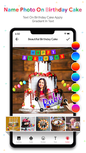 Name Photo On Birthday Cake - Birthday Photo Frame  screenshots 3