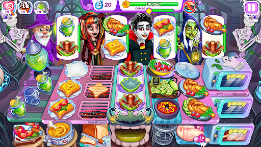 Halloween Madness : Cooking Games Food Fever apkslow screenshots 24