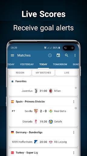 Footba11 - Soccer Live Scores  Screenshots 1
