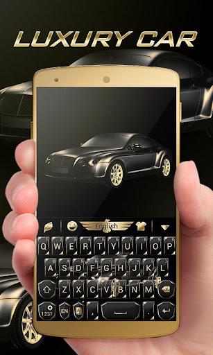 luxury car go keyboard theme screenshot 1