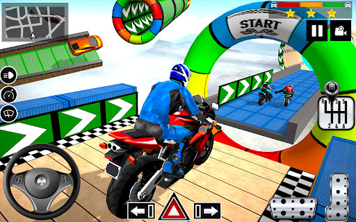 Impossible Stunts Bike Racing Games 2018: Sky Road  screenshots 4