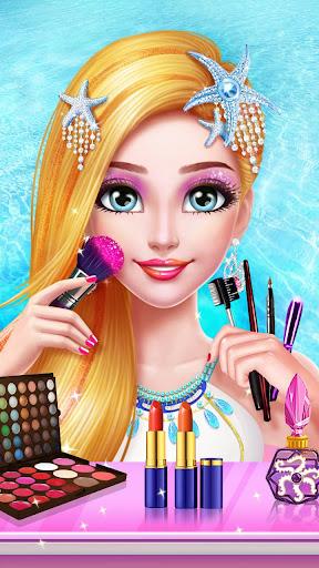 🧜♀️Mermaid Princess Makeup - Girl Fashion Salon  screenshots 2