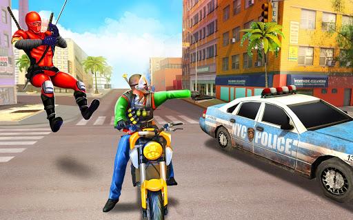 Flying Ninja Rope Hero: Light Speed Ninja Rescue apkpoly screenshots 14