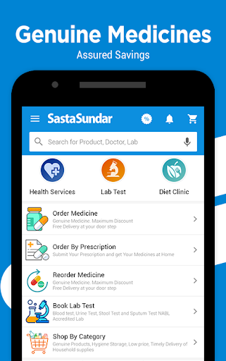 SastaSundar - Genuine Medicine Lab Test Doctor App 3.8.7 Screenshots 1