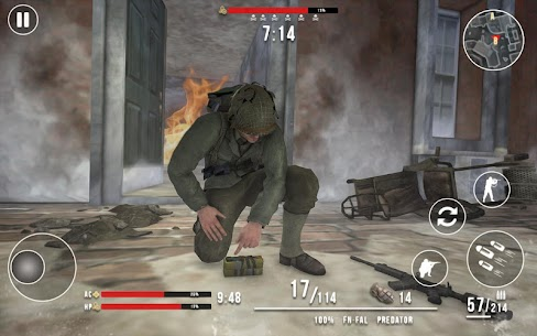 World War 2 Winter Heroes Mod Apk (Dumb Enemy/God Mode) 3