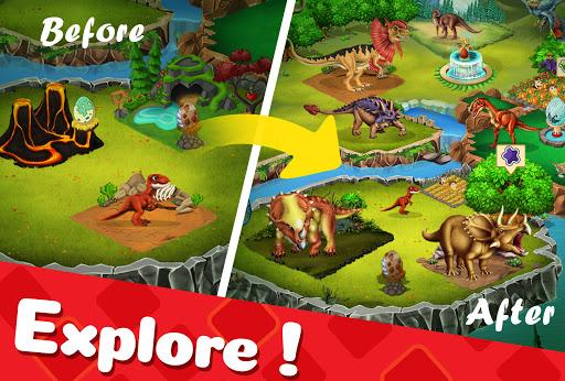 DINO WORLD - Jurassic dinosaur game Apkfinish screenshots 5