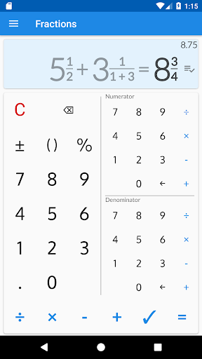 Fractions - calculate and compare 2.18 Screenshots 1