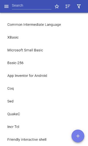Programming languages modavailable screenshots 1