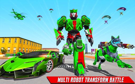 Loup Robot Jeux-Robot Transforming Jeux de voiture APK MOD (Astuce) screenshots 2