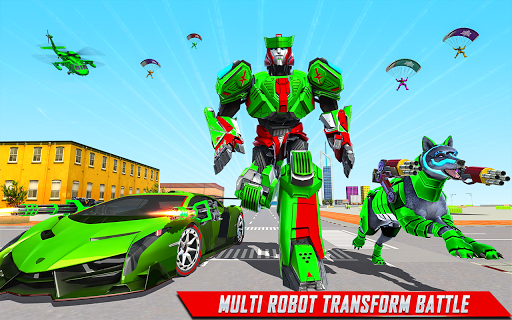 Wolf Robot Transforming Games u2013 Robot Car Games android2mod screenshots 2