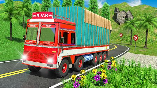 Indian Cargo Truck Transporter City Driver 3D Game  screenshots 5