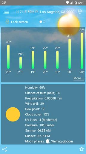 Weather u2014 Live Weather Forecast & Weather Widget  screenshots 4
