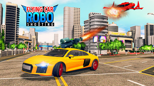 Flying Car Shooting Games - Drive Modern Cars Game 1.7 screenshots 10