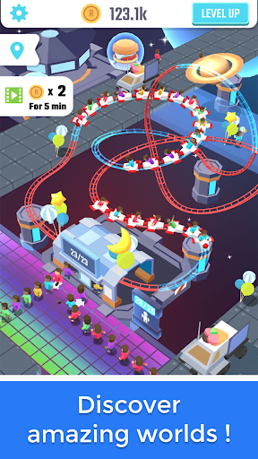 Idle Roller Coaster android2mod screenshots 3