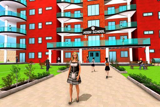 Virtual School Girl Simulator: High School Game apktram screenshots 2