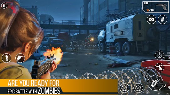 Zombies Fire Strike Mod Apk (God Mode/Dumb Enemy) 1