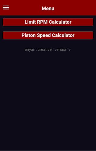 four 4 two 2 stroke engine speed limit calculator screenshot 1