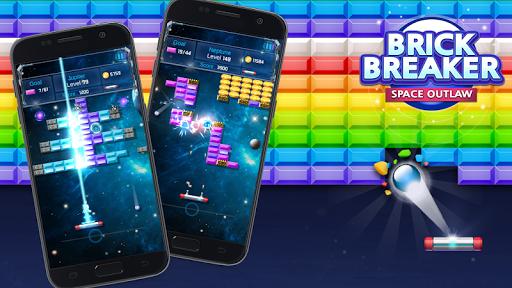 Brick Breaker : Space Outlaw apktreat screenshots 2