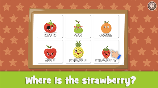 Learn fruits and vegetables - games for kids 1.5.4 screenshots 3