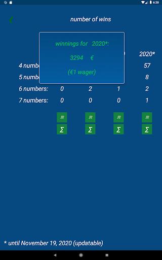 Keno FR combination statistics  screenshots 16