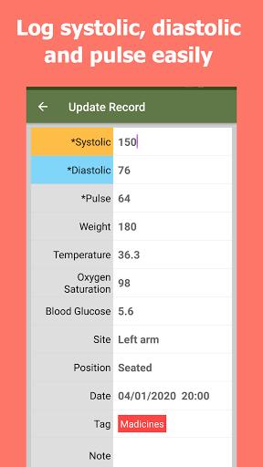 Blood Pressure Tracker android2mod screenshots 7