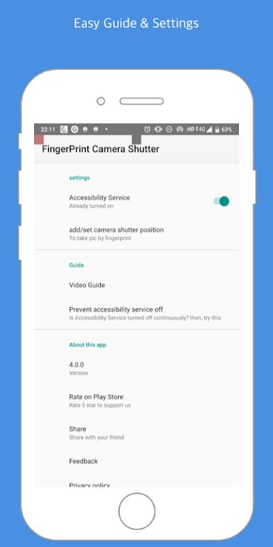 Fingerprint Camera shutter poster 1