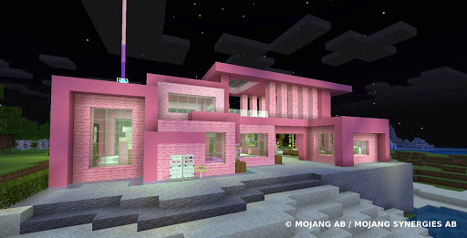 Pink house with furniture. Craft maps and mods 1.0.1 Screenshots 9