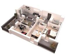 3Dホームデザインのアイデア 間取り図のおすすめ画像4