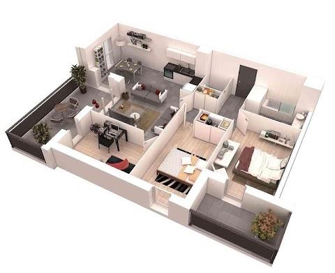 3Dホームデザインのアイデア|間取り図のおすすめ画像4