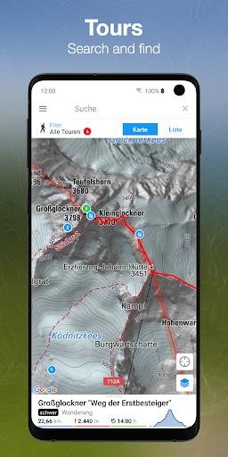 bergfex Tours & GPS Tracking Running Hiking Bike 3.00 Screenshots 1